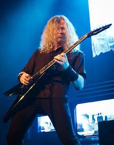 Dave Mustaine of Megadeth performs at The Warfield in San Francisco on 2/29/2016