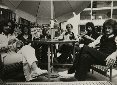 Jaguar in 1977: Pat Taylor, Drew Hays, Ed Foresman, Walter Polk, Roy Howell and Doug Mayo.
