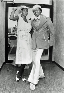 Pam Grier and Mr. Wonderful at the Airport Hilton in 1975.