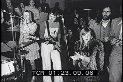 ...the debut of Paul McCartney and Wings at the Hard Rock Cafe in London ---Isaac Tigrett pictured on the far right.