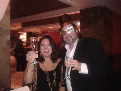 Diane Steinberg-Lewis with husband Kenny Lee Lewis (of the Steve Miller band)  on 12/31/12 in New York.