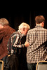 Helping Doc offstage after performing at Merlefest 2011