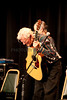 Doc Watson takes a bow at the end of his performance at Merlefest 2011