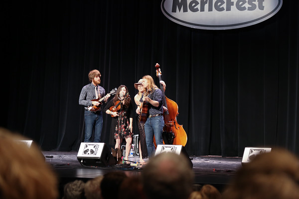 This is Barefoot Movement.  A young and upcoming energy band playing at Watson Center, Merlefest 2016.