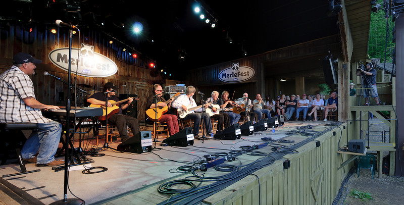 Doc Watson & Friends on the Watson Stage @ Merlefest 2011