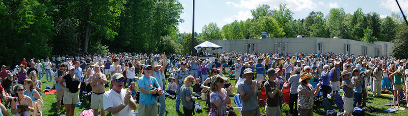 Crowd for the Lost Bayou Ramblers on the Americana Stage @ Merlefest 2011