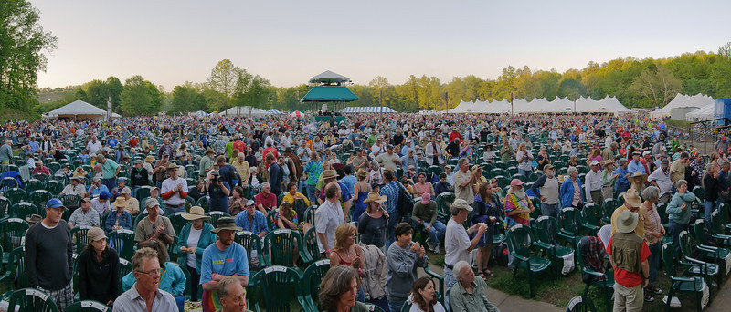 Crowd for Doc Watson & Friends on the Watson Stage @ Merlefest 2011
