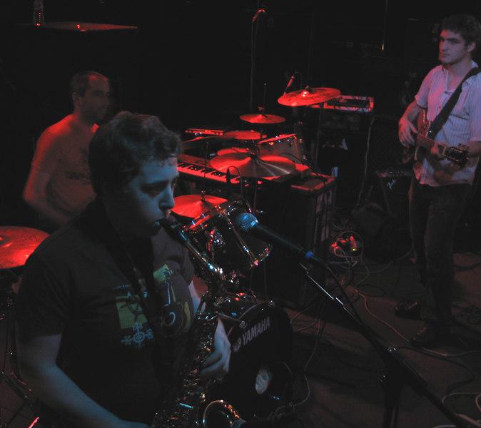 The Metal Hearts at the Ottobar, Baltimore, July 15, 2006. Sam Lieber (drums), Flora Wolpert-Checknoff (vocals, guitar, sax), Anar Badalov (vocals, guitar).