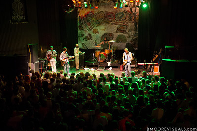 Brandon Beaver, Greg Jehanian, Aaron Weiss, Rickie Mazzotta, and Michael Weiss of mewithoutYou perform on August 8, 2012 in support of Ten Stories at State Theatre in St. Petersburg, Florida