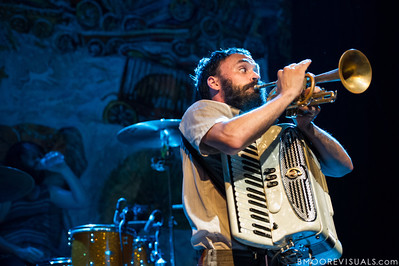 Aaron Weiss of mewithoutYou performs on August 8, 2012 in support of Ten Stories at State Theatre in St. Petersburg, Florida