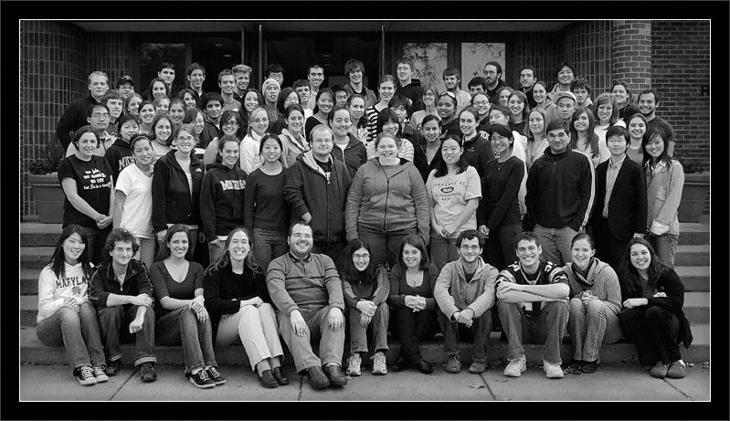 Pops Love F2007  Group photo outside Revelli Hall (Pops Board seated in front)  Michigan Pops Orchestra University of Michigan, Ann Arbor  04-NOV-2007