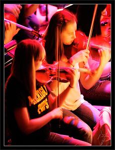 Amanda & Melissa  Amanda Opaskar & Melissa Meyer, violin  Sound Check Rehearsal Michigan Theater  Michigan Pops Orchestra  05-APR-2009