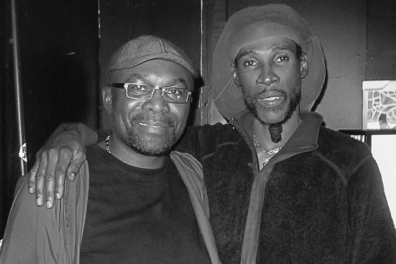 Vaughn Benjamin (right) Midnite lead singer