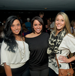 Mary Zifer, Ashley Vandlik and Annie McCune of Cincinnati at Bogart's Wednesday for Mike Posner