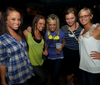 Maria, Chelsey, Brittany, Edana and Kristen of Cincinnati at Bogart's Wednesday for Mike Posner