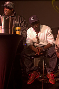 """Left - Rahzel - Best known in the mainstrean world as a member of of the Roots. Rahzel is an MC who specializes in the """"fifth element"""" of hip-hop culture -beat boxing. He actively discourages classification of his sound, attempting to remain on the eclectic edge of commericial music  Right - Black Thought"""