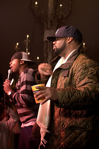 "Left - Host - Leon Rogers from WGCI radio.  Right - Raekwon ""The Chef"" is known as one of the greatest East Coast rappers and a member of the Wu-Tang Clan. Raekwon  ""The Chef"" has done some of his most critically acclaimed work within and outside the confines of the his group."