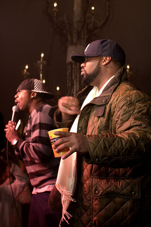 Left - Host - Leon Rogers from WGCI radio.
