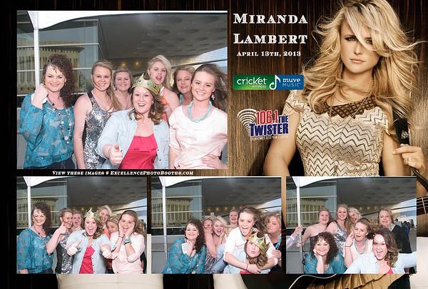 Miranda Lambert at BOK 04/13/13