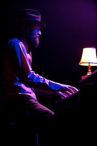 John Henry Trinko plays piano for Randy Houser at the Taft Theater on Thursday