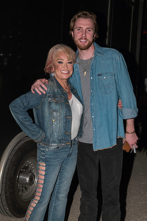 Mom and proud son Beau before the show