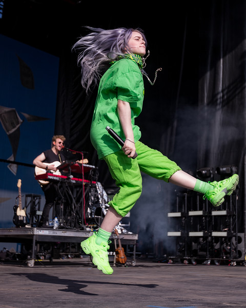 July 28, 2018 Billie Eilish on the Grande Stage at Mo POP Festival. Photo by Tony Vasquez for MAT Magazine.