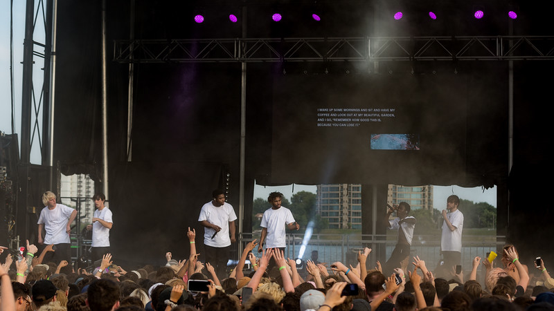 July 29, 2018 Brockhampton on the River Stage at Mo POP Festival. Photo by Tony Vasquez for MAT Mag.