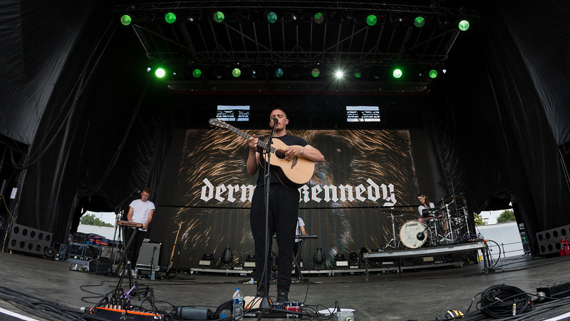 July 29, 2018 Dermont Kennedy on the Grande Stage at Mo POP Festival. Photo by Tony Vasquez for MAT Mag.
