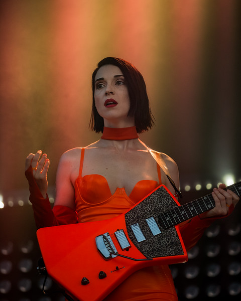 July 29, 2018  St. Vincent on the River Stage at Mo POP Festival. Photo by Tony Vasquez for MAT Mag.