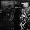 "Howling Ligts.<br /> Guitar Walter Wolfman Washington and sax Jimmy Carpenter at ""Huset"", Copenhagen, Denmark."