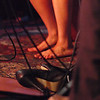 Drop your shoes, when you do the Blues.<br /> Feet of vocalist Sarah da Silva at the floor of Mojo Bluesbar, Copenhagen, Denmark.