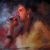 "Statement.<br /> Vocalist Sahra da Silva of ""The Jagged Soul"" at Mojo Bluesbar, Copenhagen Denmark.<br /> Photopaint with impressionist chalk in Corel Painter + texture."