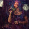 Tender Blues.<br /> Lea Thorlann, vocal at Mojo Blues Bar, Copenhagen.<br /> Photo painted with digital flat water brush in Corel Painter + texture layers.