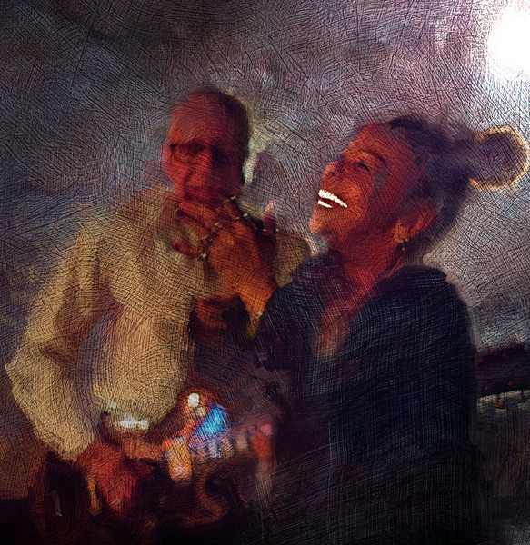 Join In!!<br /> Vocalist Lillian Boutté and guitarist Kenn lending at Mojo Bluesbar, Copenhagen, Denmark.<br /> Photo painted with digital sargent brush in Corel Painter + texture layers.