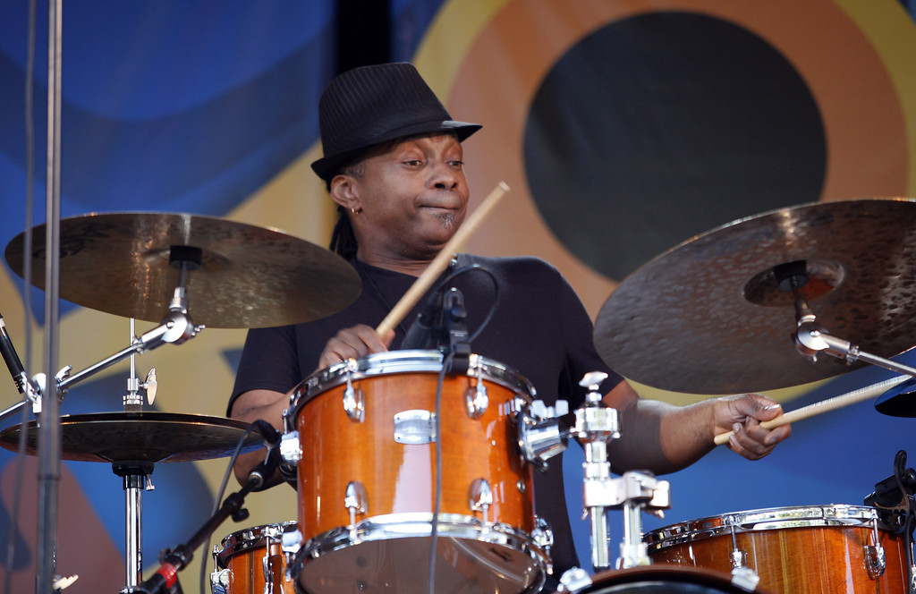. Deszon Clairborne on the Garden Stage at the Monterey Jazz Festival on Sept. 22, 2013.  (Vern Fisher/Monterey County Herald)