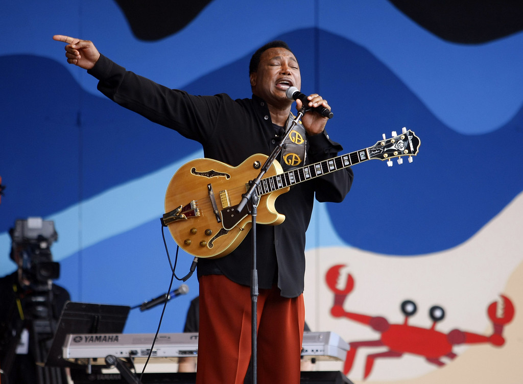 . George Benson performs at the Jimmy Lyons Stage at the Monterey Jazz Festival on Sept. 21, 2013.  (Vern Fisher/Monterey County Herald)