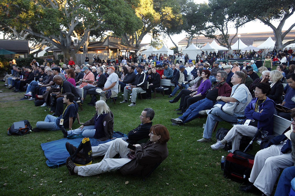 . The crwod at the Graden Stage watches Roberto Fonseca perform during the 56th Monterey Jazz Festival at the Monterey Fairgrounds on Sept. 20, 2013.  (Vern Fisher/Monterey County Herald)