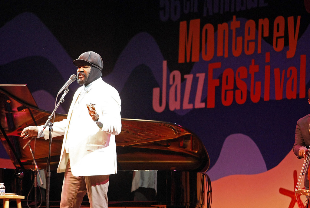 . Gregory Porter performs on the Jimmy Lyons Stage during the 56th Monterey Jazz Festival at the Monterey Fairgrounds on Sept. 20, 2013.  (Vern Fisher/Monterey County Herald)
