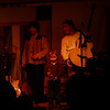 Dominic onstage with Andesmanta; Perkasie Patchwork Coffeehouse