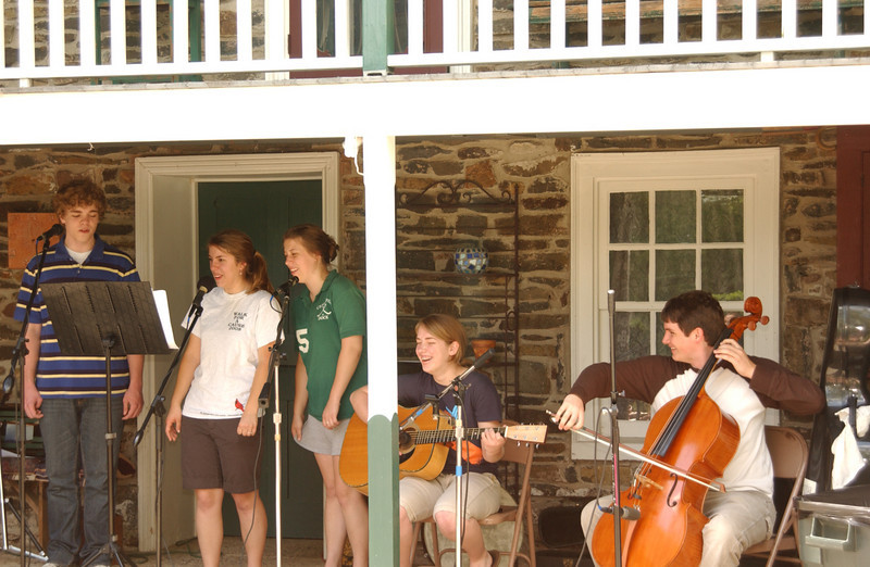 """Practice for the Ruth's Coffeehouse - """"Once"""" (June 2009 -Seth, Emma, Anna, Lydia, Justin)"""