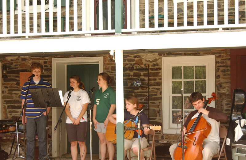 "Practice for the Ruth's Coffeehouse - ""Once"" (June 2009 - Seth, Emma, Anna, Lydia, Justin)"