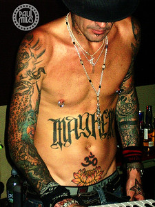 Motley Crue's Tommy Lee DJing at The Loft nightclub in Melbourne, Australia, after the band's concert on 7 Dec 2005.