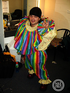 """""""Mighty Mike"""" Murga in his dressing room at the Adelaide Entertainment Centre on 8 Dec 2005 before opening the stage show for Motley Crue."""