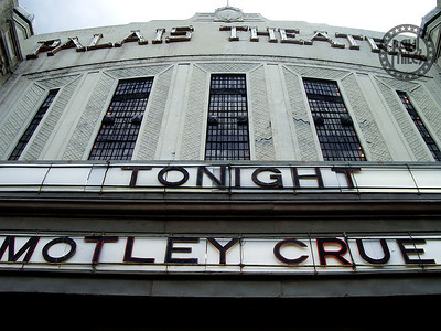 Melbourne's Palais Theatre in St. Kilda ready for Motley Crue's show that night on 7 Dec 2005 with Airbourne in support.