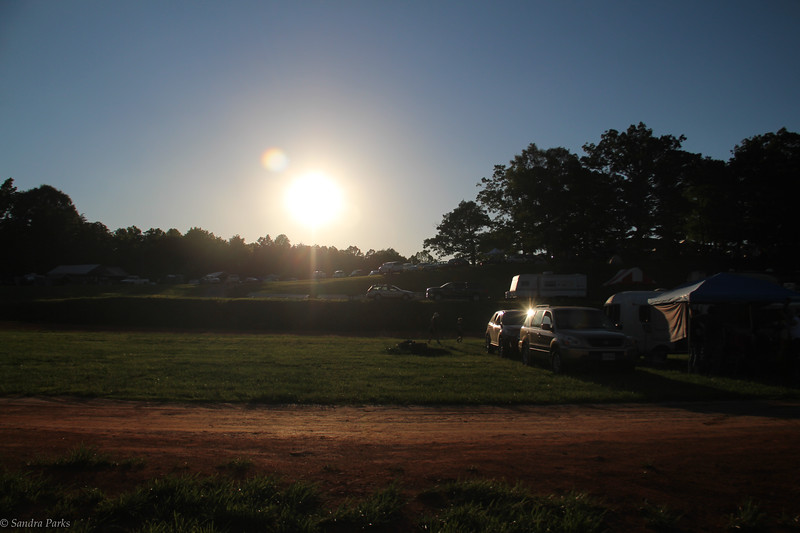 Friday night, soon after we pulled in. Next to the ever sol lovely lawnmower racetrack.