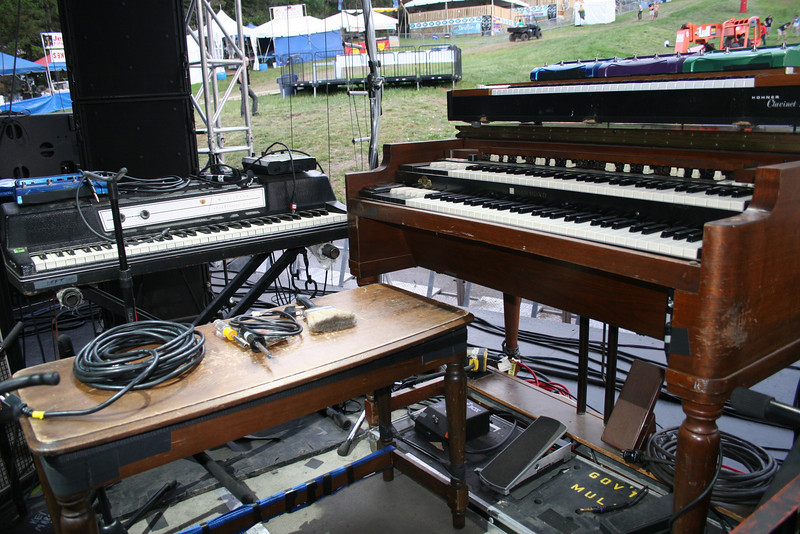 set up for keyboardist Danny Louis