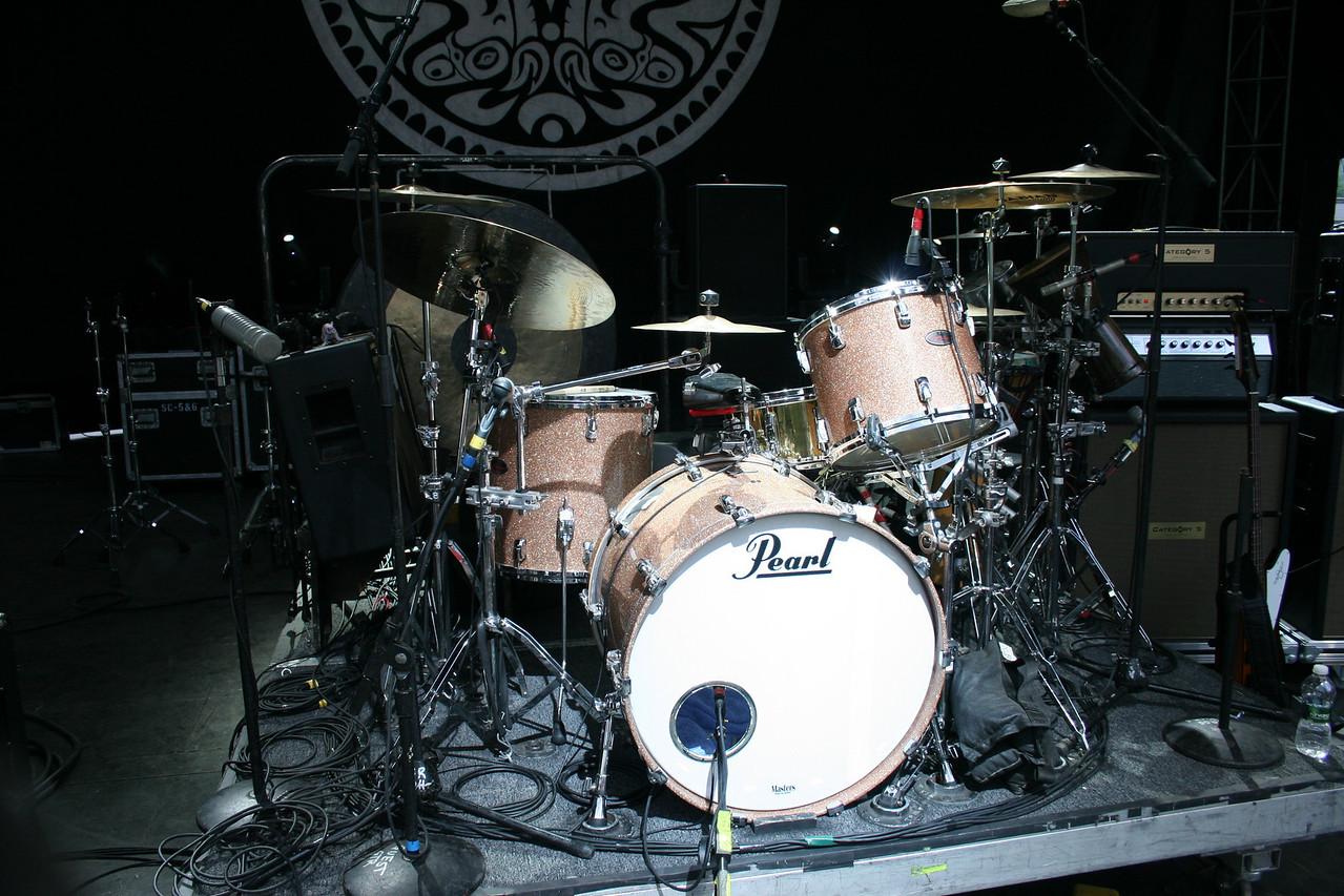 Gov't Mule drummer Matt Abts' shiny kit
