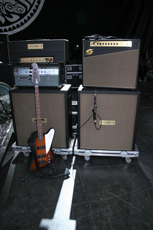Gov't Mule bass player Jorgen Carlsson's set up
