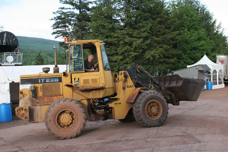 doing what they do best at Hunter Mountain, playing with really big machines