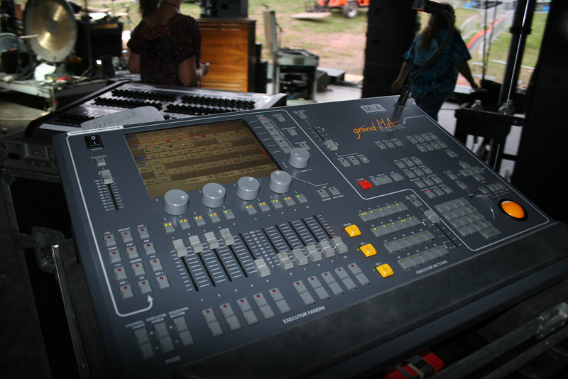 stage lights mixing board